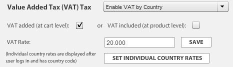 VAT Setup in EasyCart